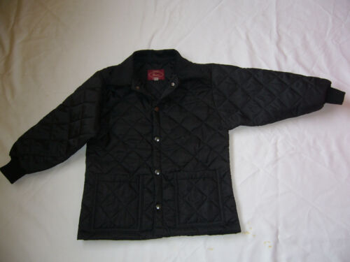 CHILDRENS HORSE QUILTED RIDING COATJACKET BLACK NEW