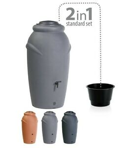 Regenwassertonne Regentonne Regenbehälter Regentank Amphore 210L 360L 3 Farben