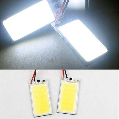 2x COB 18-LED Plate Light  INTERIOR DOME LIGHT BULBS T10 Festoon 12V -White