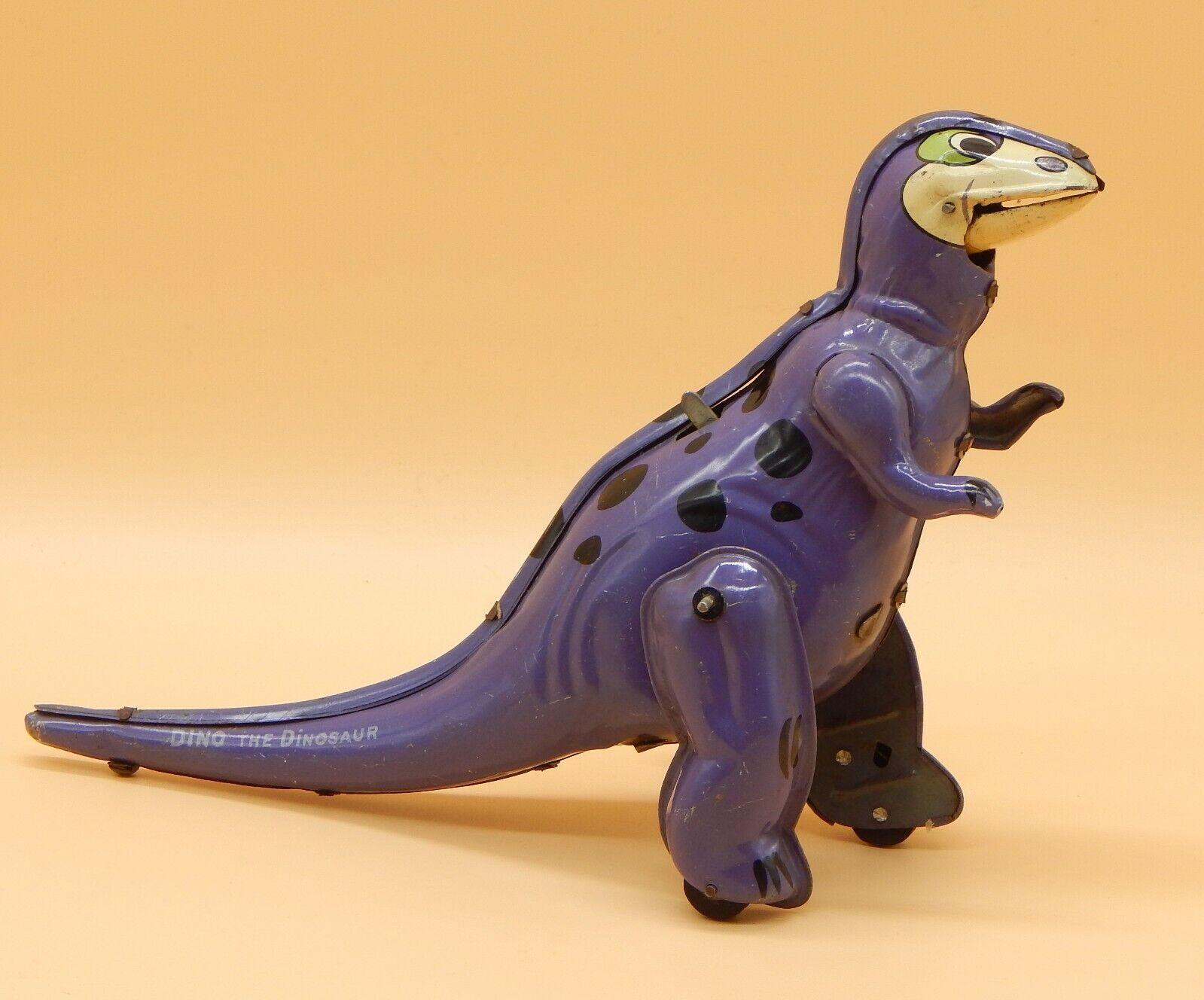 1961 Vintage Picapiedra Linemar Dino el dinosaurio Cuerda Juguete De Hojalata Marx Japón