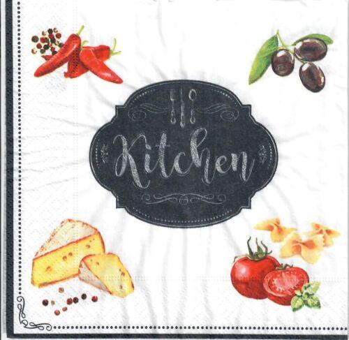 vegetables -728 Kitchen board chalk board 4 Single paper decoupage napkins