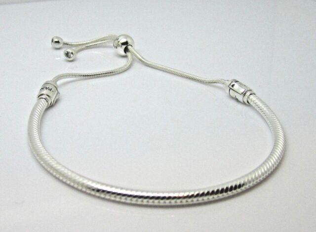 Pandora Sterling Silver Sliding Adjustable Bracelet 597125cz For Sale Online Ebay