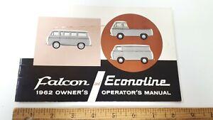 1962-FALCON-Econoline-Original-Owners-Glove-Box-Manual-US