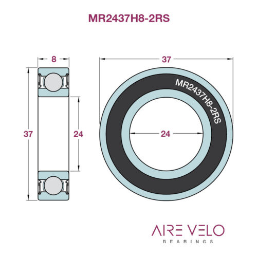 SRAM TRUVATIV GXP BOTTOM BRACKET BEARINGS MR22237-2RS /& MR2437H8-2RS