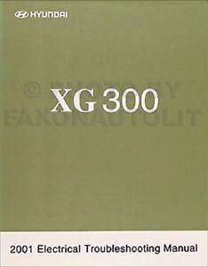2001 hyundai xg 300 electrical troubleshooting manual xg300 wiring rh ebay com