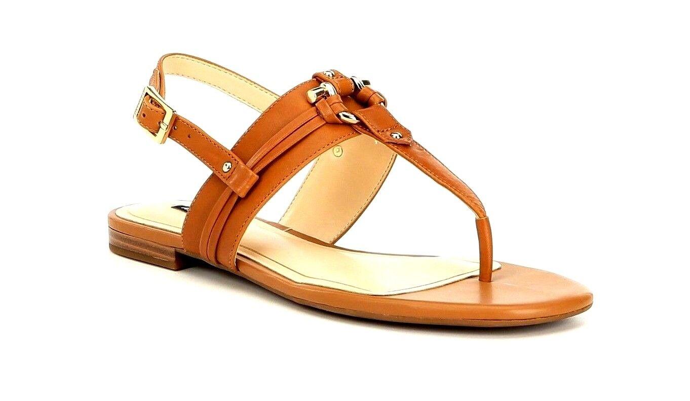 Alex Marie Fairyn Women's Size 10M Tan Leather Thong Stud Flat Sling Sandals New