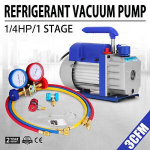 3CFM-1-Stage-Refrigerant-Vacuum-Pump-Refrigeration-Air-Condition-1440-RPM