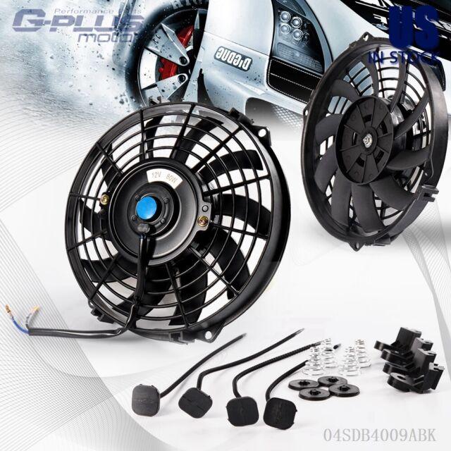 "Dual 12/"" Racing Radiator Cooling Fan High Efficiency Slim Pull//Push Mounting Kit"