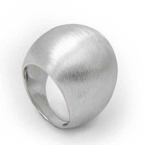 Schwerer Silberring mattiert aus 925er Sterling Silber Ring Matt