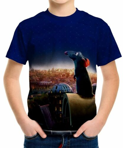 Ratatouille Boys Kid Youth T-Shirt Tee Age 3-13 New