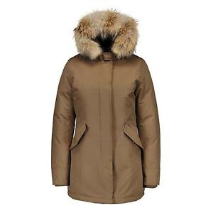matogla h4f damen arctic winter parka mantel jacke khaki gr n echt fell kapuze. Black Bedroom Furniture Sets. Home Design Ideas
