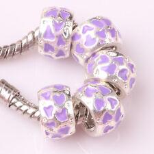 NEW 5pcs Tibetan silver lampwork spacer beads fit Charm European Bracelet #D181