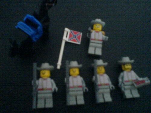 MOC Pferd Lego 5 Soldaten der Südstaaten Western Wildwest 6716-2