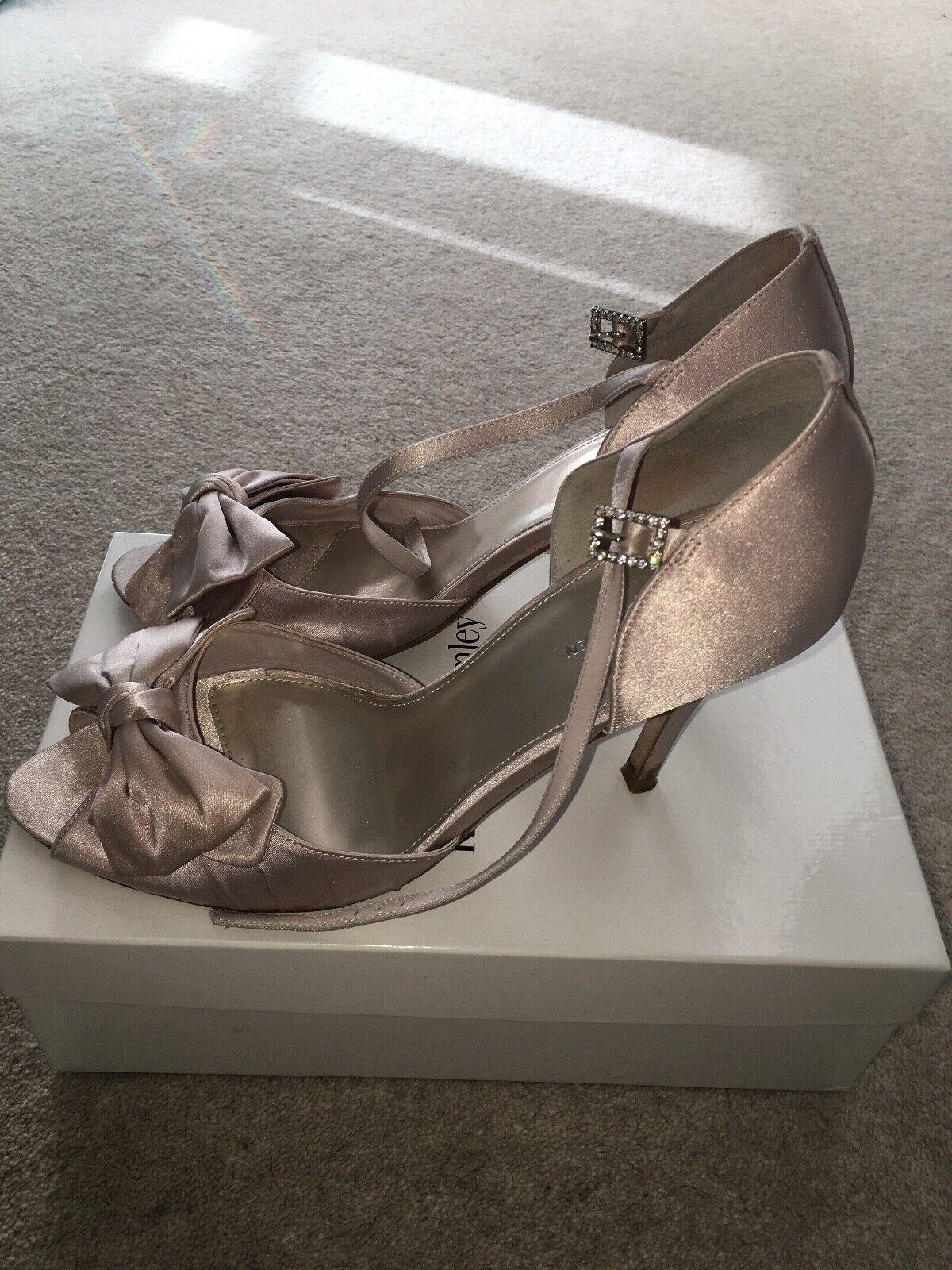Karen Millen Heels silver   beige Size 40 Size SIZE 7