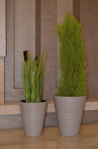 Flowerpot Round Wave Slim use up to H:79cm Set 6 Sizes Anthracite Grey