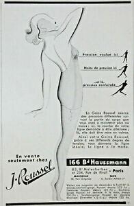 PublicitÉ De Presse 1932 La Gaine Roussel Exerce Des Pressions DiffÉrentes