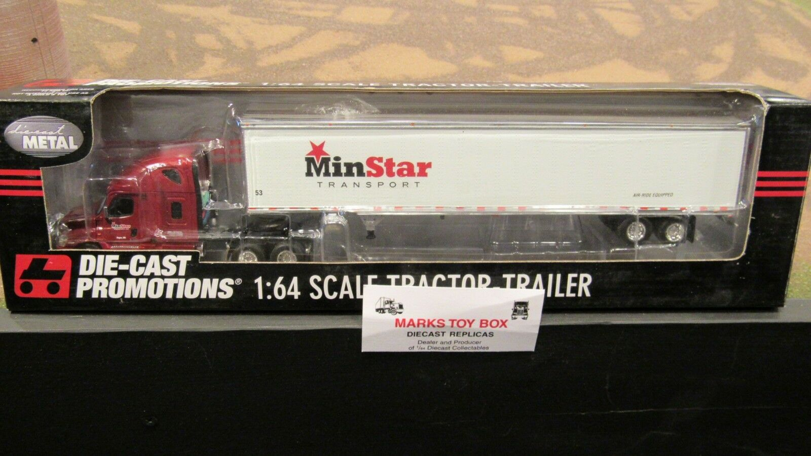 DCP  32718 minstar transport FL Casia Semi Cab camion & remorque 1 64 File card