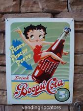 BETTY BOOP- DRINK BOOPSI COLA METAL SIGN