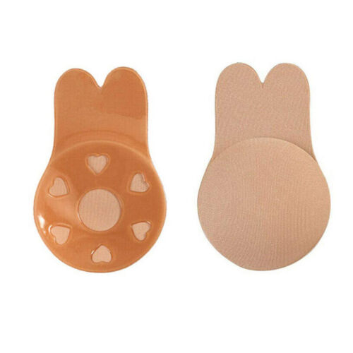 Women/'s Strapless Invisible Bra Silicone Self-Adhesive Push Up Rabbit Sticky Bra