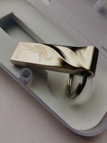 WATERPROOF USB FLASH DRIVE 32GB Fashion Cool Metal Drive Thumb Stick Silver