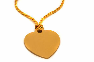 Personalised-Large-Gold-Aluminium-Heart-Bookmark-Gift-Box-Any-Message-Engraved