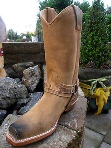 us 40 7 4670 boots 40 neg Biker Sendra 5 serr Gr cam Vintage brown 0TZ1WF6