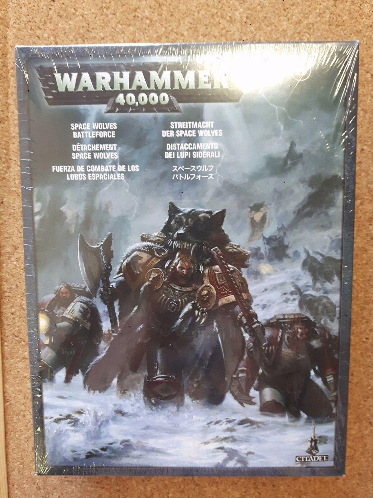 Warhammer 40K Space Lobos Battleforce Box Set 53-08 Nuevo Sellado Juegos Workshop