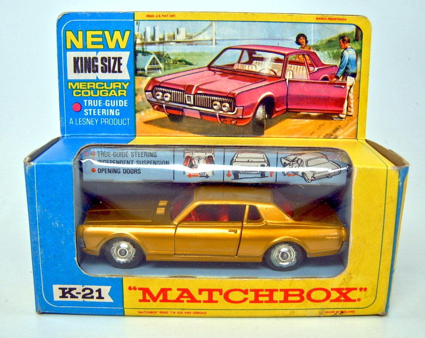 MATCHscatola reDimensione k21 Mercury Cougar oro METtuttiIZZATO TOP IN scatola