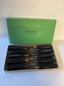 Vintage-Upson-Screwdrivers-Flat-Tip-NOS-Unused-Box-Hold-E-Zee-Qty10-Lot-3