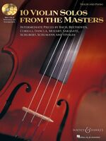 10 Violin Solos From The Masters Violin And Piano With Two Cds 048019619