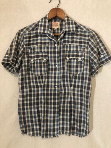 50s Levis Short Horn Sawtooth Western Pearlsnap Sh