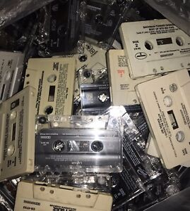 100 CASSETTE TAPE LOT FOR ARTS & CRAFTS DECORATION PRE-RECORDED 8 LBS OF TAPES