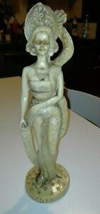 Statua Orientale giapponese donna 30 cm antica collezione firmata vintage r.b.
