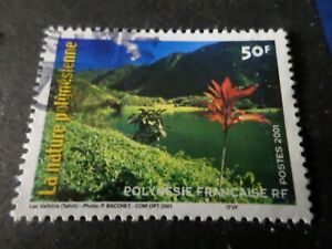Polynesien-2001-Briefmarke-635-Flora-Lac-Natur-Los-C-Entwertet-VF