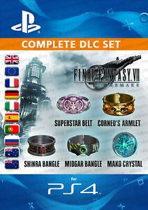 UK-amp-All-Europe-Final-Fantasy-7-VII-Remake-FF7-5-Items-Complete-DLC-Set