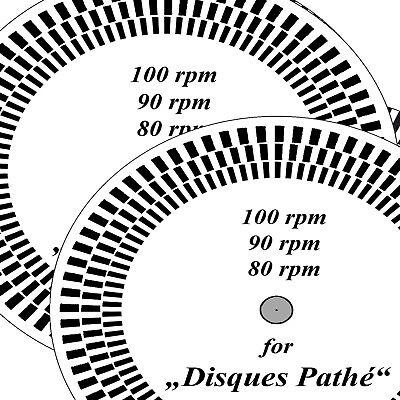 """Stroboscope-disc for Pathéphone """"Disques Pathé"""" 80, 90, 100 rpm, US-version."""
