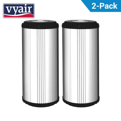 """2 X Vyair 10/"""" GAC BIG BLUE 5μm carbone attivo granulare Cartuccia Filtro Acqua"""