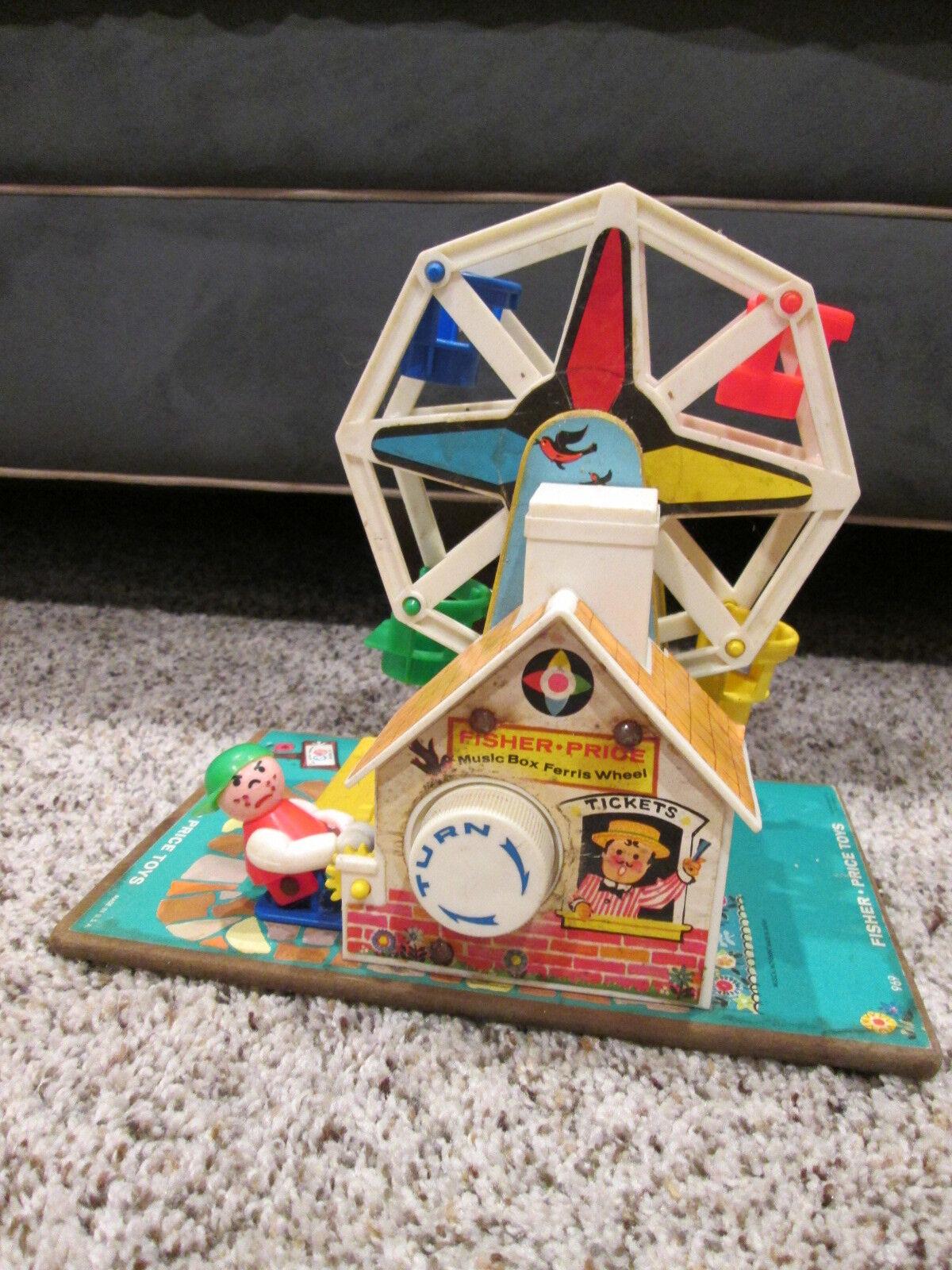 Vintage 1966 Fisher-Price Music Box Box Box Ferris Wheel No. 969 - Works 71b62b