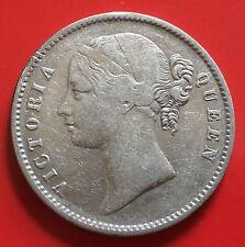 British India One Rupee Silver Victoria 1840