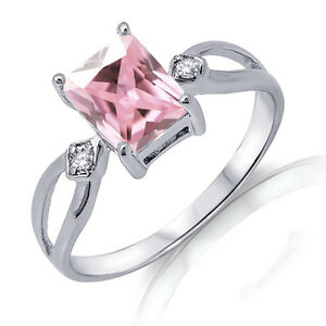 Traditional-Emerald-Cut-Pink-Sapphire-Genuine-Sterling-Silver-Ring-3-10-Ctw