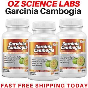 3-x-Garcinia-Cambogia-180-Capsules-WEIGHT-LOSS-FAT-BURNER-AUST-MADE-STOCK