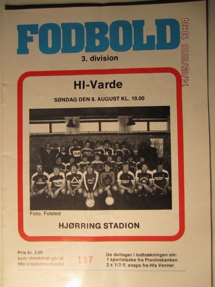 Bøger og blade, Kampprogrammer Hjørring IF Fodbold