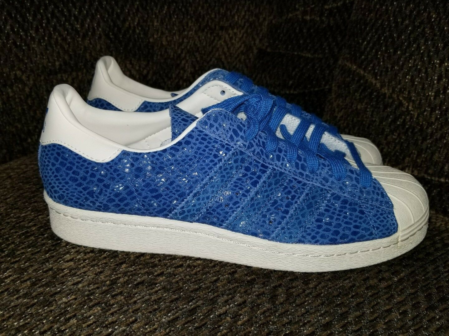 buy popular 5cf99 33c43 Adidas Originals Originals Originals Superstar 80s Snakeskin Size 8.5  S81326 Surf Blue ec4a97