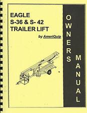 New Listingameriquip Aerial Liftmanliftboomlift S 36 Amp S 42 Manual