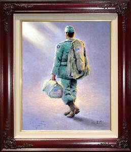 Thomas-Kinkade-Heading-Home-16-034-x-12-034-A-P-Framed-Limited-Edition-Canvas-Painting