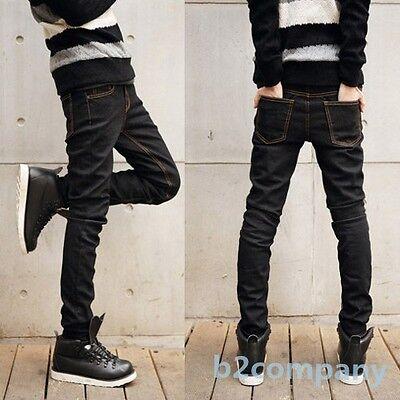 Mens Man Korean Skinny Slim Pencil Feet Pants Straight Stretch Jeans Trousers