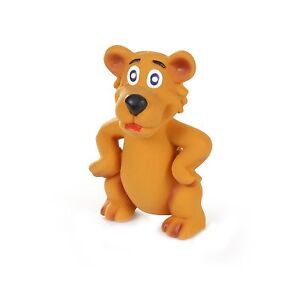 KNIGHT PET WOLF LATEX ORANGE WOLF SQUEAKER DOG TOY. FREE SHIPPING IN THE USA