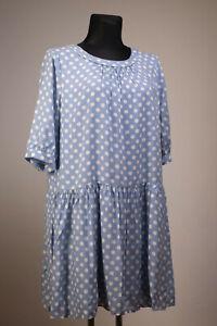 Boden Kleid Blau gepunktet Gr. 48 | eBay