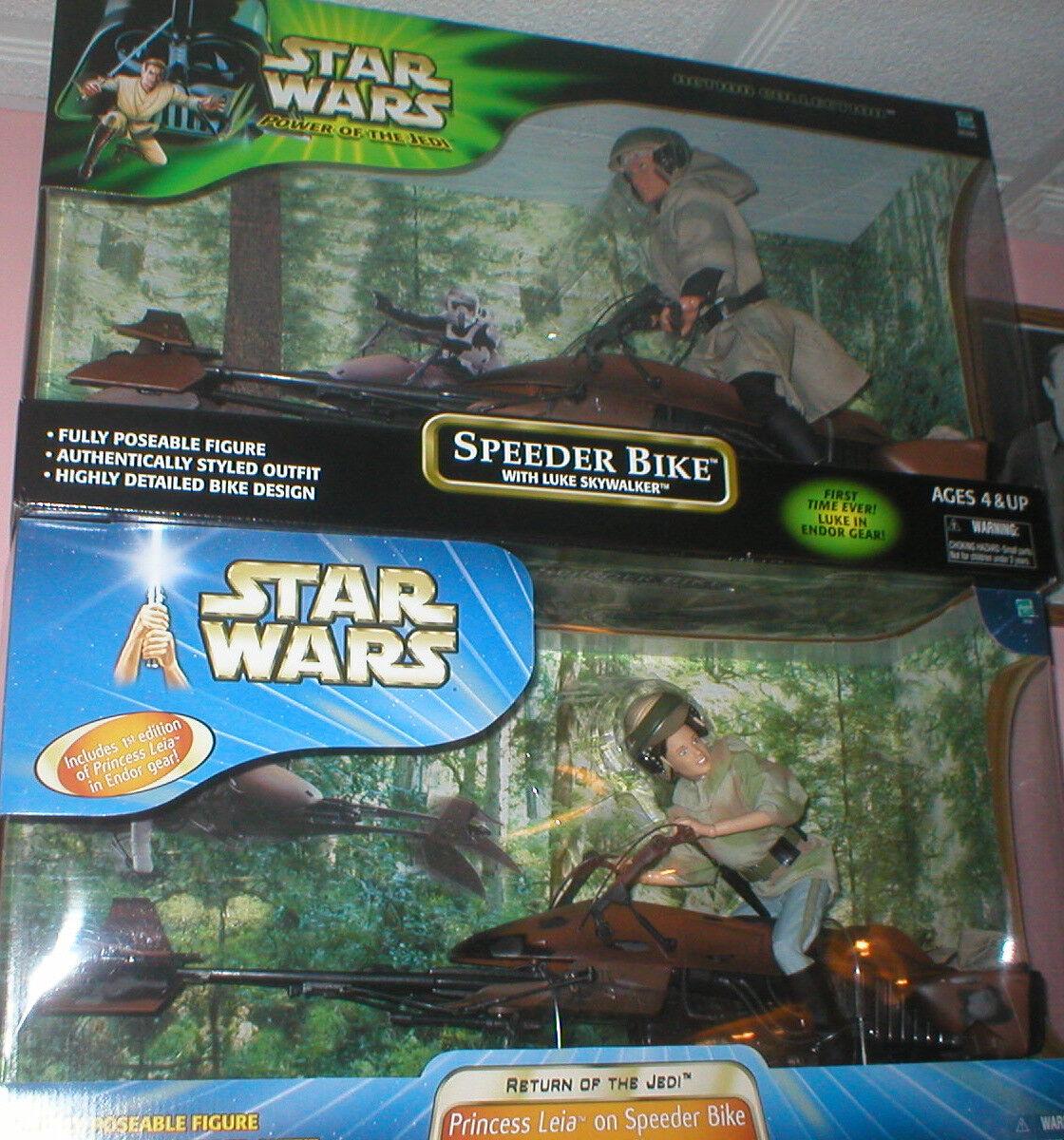 STAR WARS 12  LUKE SKYWALKER AND LEIA ON SPEEDER BIKES, BOTH UNOPENED.