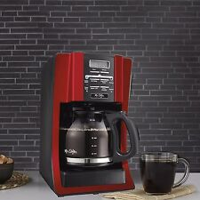 Restaurant Coffee Maker Commercial Mr Coffee 12 Cup Pot Programmable Machine Red